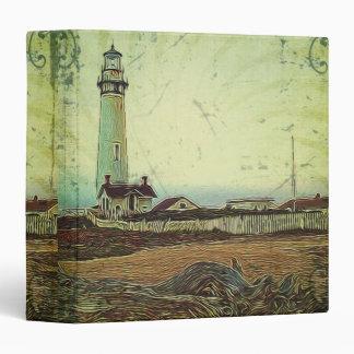 oil painting seashore nautical beach Lighthouse Binder