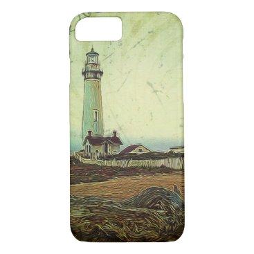Beach Themed oil painting seashore nautical beach Lighthouse iPhone 7 Case