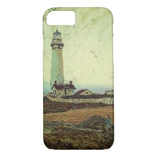oil painting seashore nautical beach Lighthouse iPhone 8/7 Case