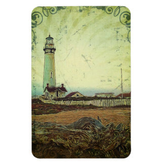 oil painting seashore nautical beach Lighthouse Magnet