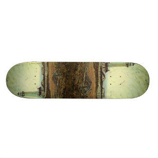 oil painting seashore nautical beach Lighthouse Skateboard Deck