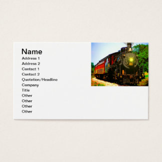 Oil Painting Steam Locomotive Business Card
