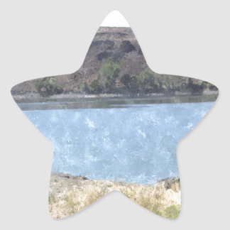 Oil Painting with Lake Star Sticker
