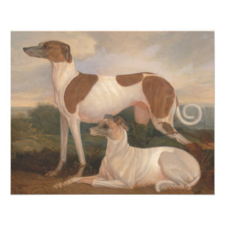 """oil paintings of greyhounds 4.5"""" x 5.6"""" flyer"""