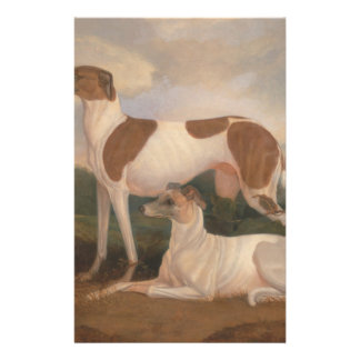 """oil paintings of greyhounds 5.5"""" x 8.5"""" flyer"""