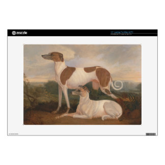 """oil paintings of greyhounds 15"""" laptop decals"""