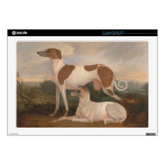 """oil paintings of greyhounds 17"""" laptop skins"""