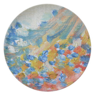 oil-paints plate