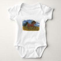 oil pant horse baby bodysuit