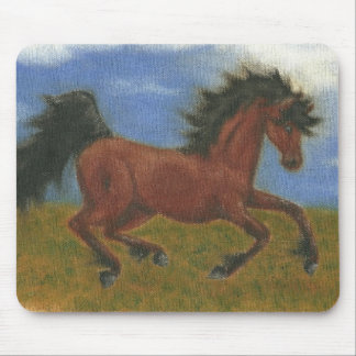 oil pant horse mouse pad