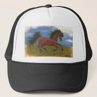 oil pant horse trucker hat