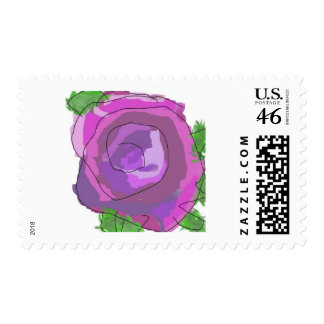 oil past rose postage stamps
