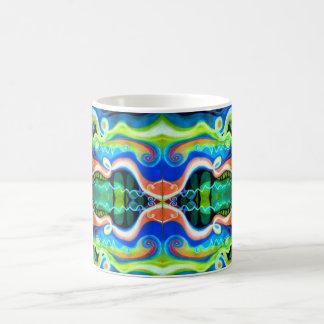 Oil Pastel Coffee Mug | Geometric Abstract