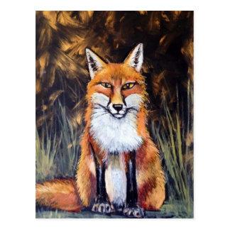 Oil Pastel fox Postcard