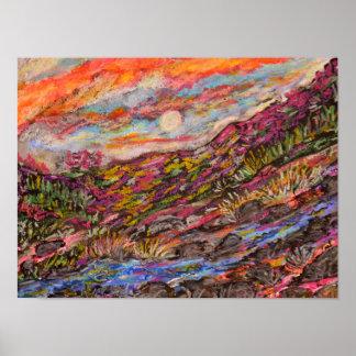 Oil Pastel Print by Kim Rowlett