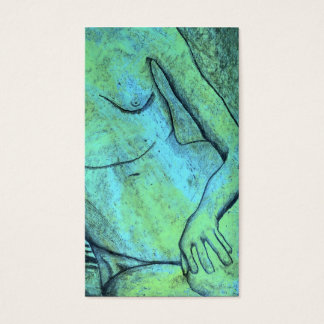 oil pastel reduction model business card