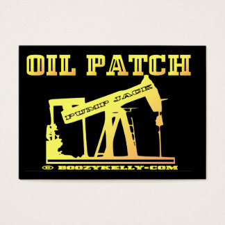 Oil Patch Pump Jack, Business Cards