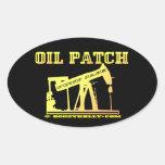 Oil Patch,Pump Jack,Oil Field,Nodding Donkey Oval Stickers