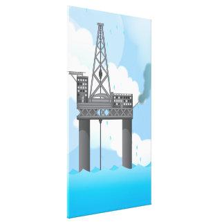 Oil Platform Canvas Print