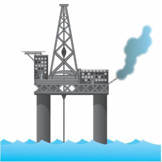 Oil Platform Photo Sculpture Ornament