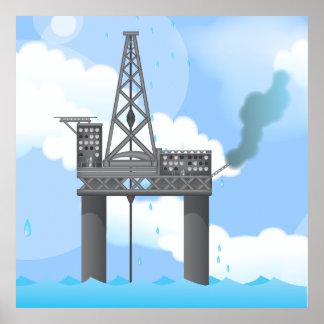 Oil Platform Poster