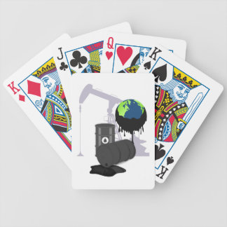 Oil Pollution Bicycle Playing Cards