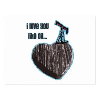 Oil Postcard