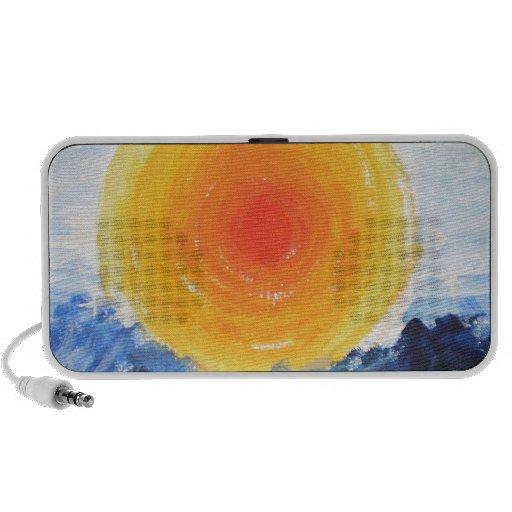 Oil Print of the Sun Notebook Speaker