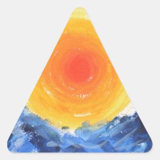 Oil Print of the Sun Triangle Sticker
