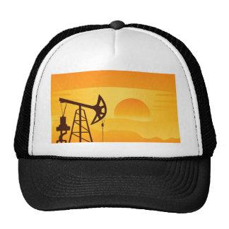 Oil Pump at Sunset Trucker Hat