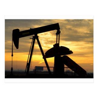 Oil Pump Sunrise Postcard