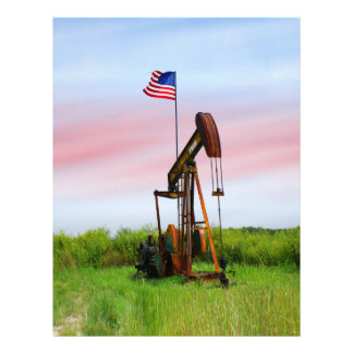 Oil Pump With American Flag Flyer