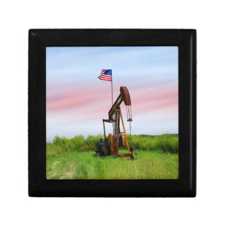 Oil Pump With American Flag Jewelry Box