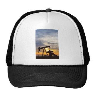 Oil Pumper At Sunrise Vertical Image Trucker Hat