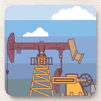 Oil Pumping Rig Beverage Coaster
