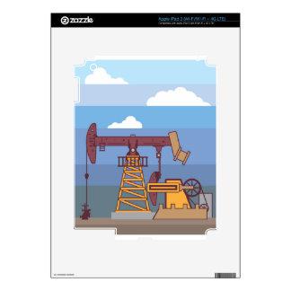 Oil Pumping Rig iPad 3 Skin
