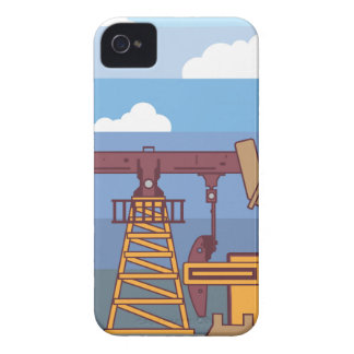 Oil Pumping Rig iPhone 4 Case-Mate Case