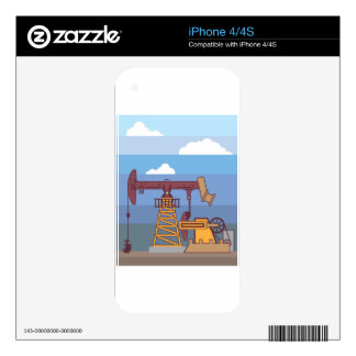 Oil Pumping Rig iPhone 4S Decals