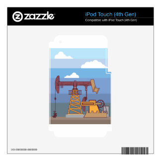 Oil Pumping Rig iPod Touch 4G Decal