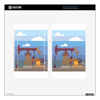 Oil Pumping Rig Kindle Fire Decals