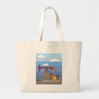 Oil Pumping Rig Large Tote Bag