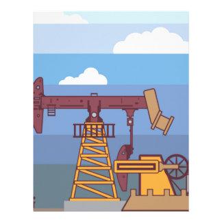 Oil Pumping Rig Letterhead