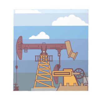 Oil Pumping Rig Notepad