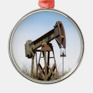 Oil Pumping Rig Christmas Ornament