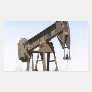 Oil Pumping Rig Rectangular Sticker