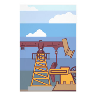 Oil Pumping Rig Stationery