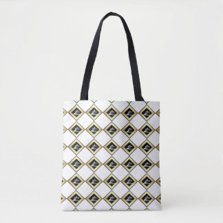 Oil Pumping Units in Gold Diamond Tote Bag