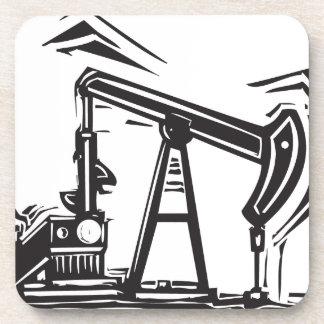 Oil Pumpjack Beverage Coaster