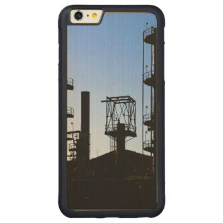 Oil Refinery Carved Maple iPhone 6 Plus Bumper Case