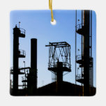 Oil Refinery Ceramic Ornament